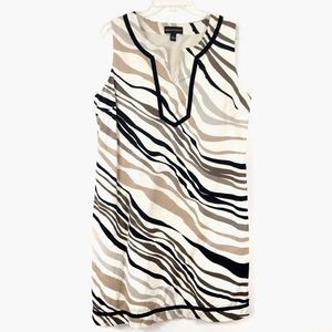 Dana Bachman Animal Print Shift Dress Large